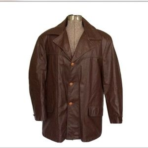 EXCELLED GENUINE LEATHER COAT ZIPOUT PLUSH LINING